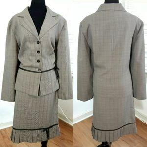 Sweet Suit Woman Skirt & Blazer 2 Piece Suit Set